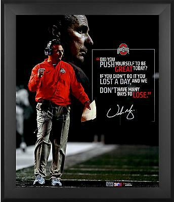 "Urban Meyer Ohio State Buckeyes Framed Autographed 20"" x 24"" Quote Photograph"