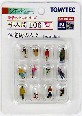 "Tomytec (Ningen 106) Model People ""Pedestrians"" 1/150 N scale"
