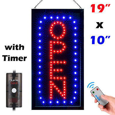 """Bright Animated LED Open Store Shop Business Sign 19x10"""" neon Display Lights"""