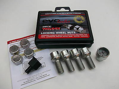 Locking Wheel Bolts Nut Fits Audi A1 A2 A3 A4 A5 A6 A7 A8 TT MK1 2 & 3 (PE1102)