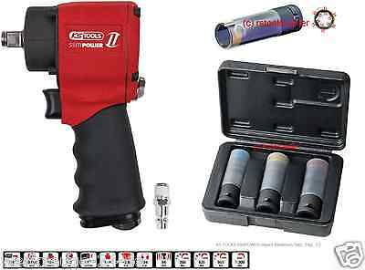 KS TOOLS SlimPOWER compressed air-IMPACT wrench+IMPACT power-socket set 3 pieces