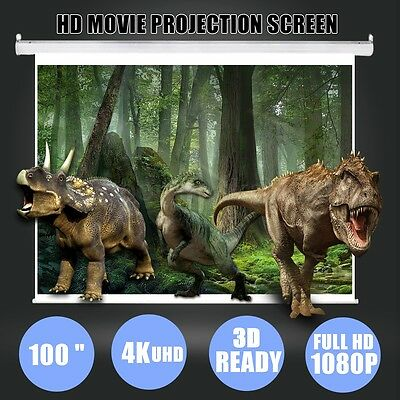 """100"""" Inch 16:9 Portable Home Projector Screen Theatre Cinema HD TV Projection"""