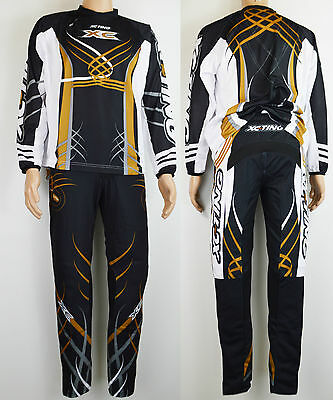 HEBO XC-TING TRIALS PANTS JERSEY EVOLUTION 3 BLACK GOLD padded elastic trousers