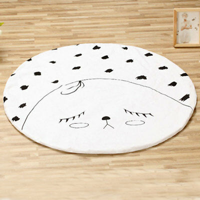 Round Clown Shaped Floor Mat for Baby Child Play Crawling Quilt Ground Mat