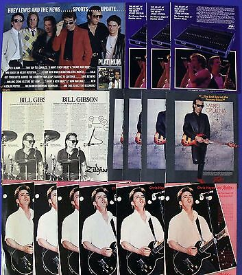 Huey Lewis & The News Rare 1980s Promotional Ads Collection