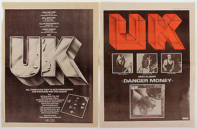 U.K. Wetton Bruford Holdsworth 1970s Media Clippings Promo Ads Collection