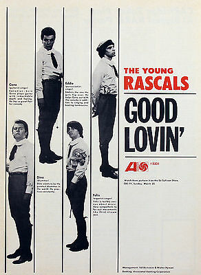 The Young Rascals Felix Cavaliere Vintage Promotional Ads Collection