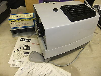Slide projector GNOME 75 Classic + box tray remote & INSTRUCTIONS
