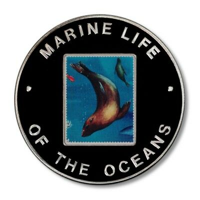 Uganda Marine Life of the Oceans Seal 1000 Shillings 2002 Proof Crown Color