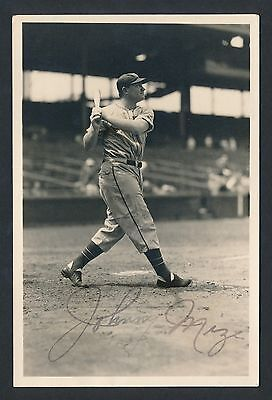 1930's JOHNNY MIZE St. Louis Cardinals Vintage Photo by GEORGE BURKE (Signed)