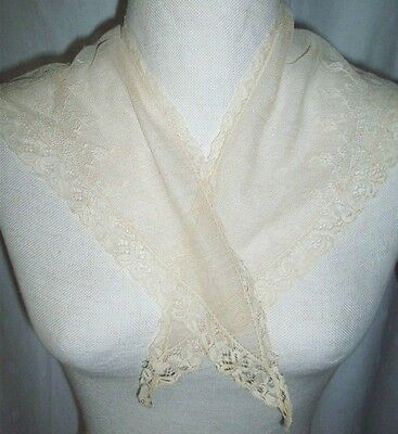 Vintage dainty, sheer  lace shawl sailor collars panels
