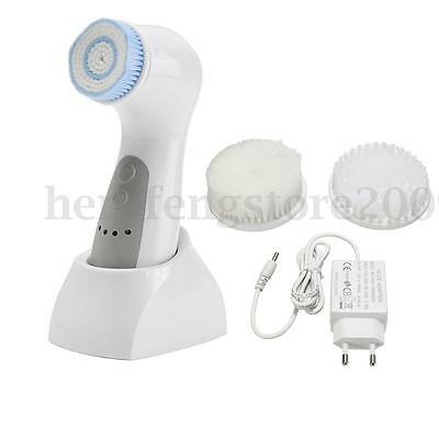 5in1 Waterproof Electric Face Cleansing Brush Spa Facial Skin Care Massage