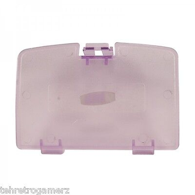 NEW Atomic Purple Clear Replacement Battery Door Lid Cover Game Boy Color GBC