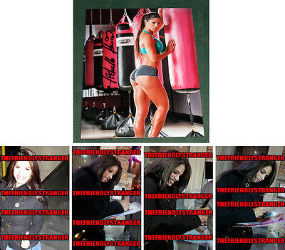 *GREATEST ASS EVER!!* MICHELLE LEWIN signed 8X10 Photo PROOF - Fitness Model COA