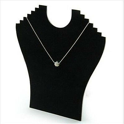 Necklace Jewelry Pendant Chain Display Holder Neck Velvet Stand Adorable
