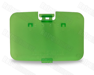 NEW Jungle Green Clear Expansion Pak Lid Cover Nintendo 64 Memory Jumper N64