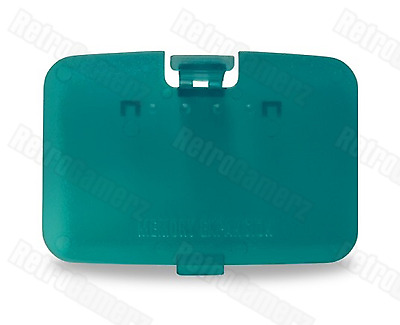 NEW Ice Blue Clear Expansion Pak Lid Cover Nintendo 64 Memory Jumper N64