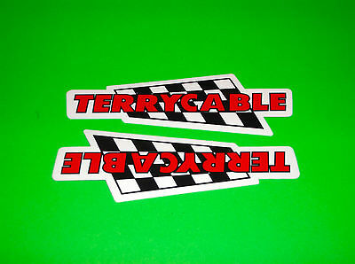 Terrycable Harley Davidson Shocks Control Cables Carburetor Decals Stickers