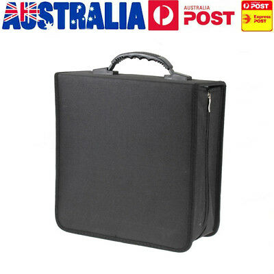 320Pcs Discs CD VCD DVD Bag Case Storage Holder Carry Large Capacity Organizer