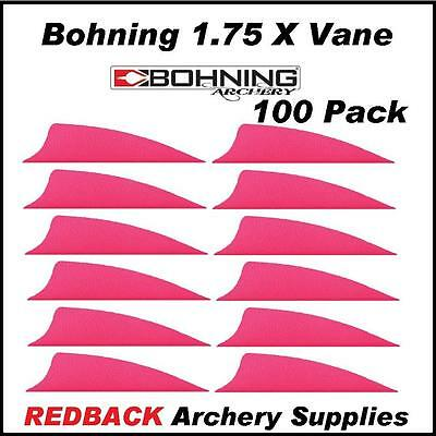 Bohning 1.75 inch X Vane PINK 100 pack  for arrows archery hunting