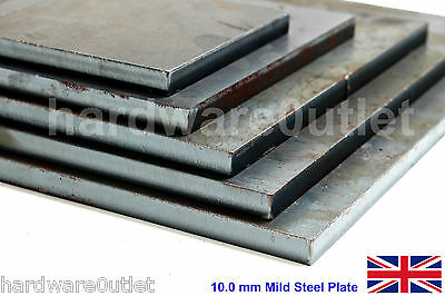 "10mm Steel Plate Sheet 3/8"" Metalwork Fixing Leveling Plates Sheet Metal Welding"