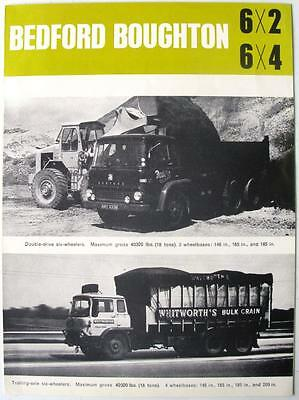 BEDFORD Boughton 6x2, 6x4 - Commercials Sales Brochure - Sep 1964 - B.1069/9/64