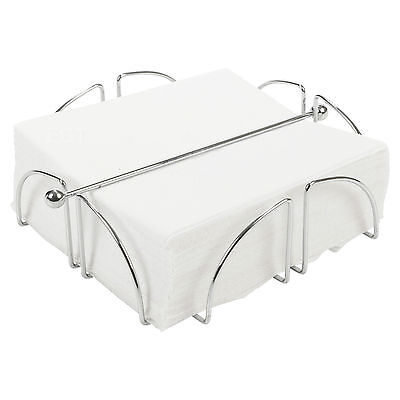 Chrome Wire Serviette Holder Napkin Dispenser Kitchen Dining Room Table Decor