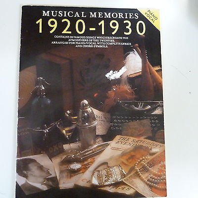 songbook MUSICAL MEMORIES 1920 - 1930