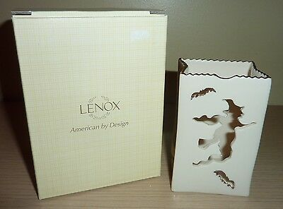 Lenox Halloween Votive Candle Holder ~ Flying Witch