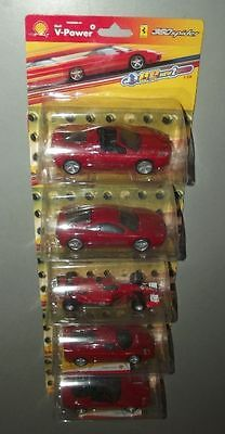5x FERRARI Modellauto SHELL- Serie 1: 38 in OVP ungeöffnet HOT WHEELS