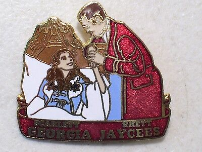 Georgia Jaycees Gone With The Wind Rhett & Scarlett Lapel Hat Pin