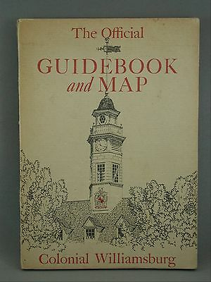 Illustrated Official Guidebook Map Colonial Williamsburg 1953 Dayton Koch