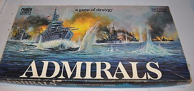 ADMIRALS Strategy Board Game 1970s Complete - rj