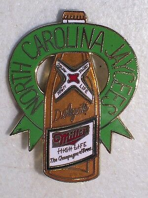 Vintage North Carolina Delegate Jaycees Miller High Life Beer Lapel Hat Pin