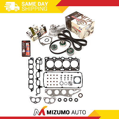 Head Gasket Set Timing Belt Kit Water Pump Fit 04-07 Mitsubishi 2.4 SOHC 4G69