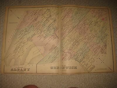 Antique 1876 Albany Greenwich Township Bernville Berks County Pennsylvania Map