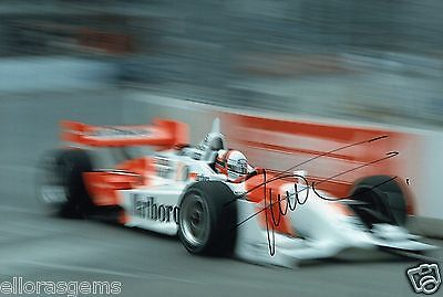 "Indy Car Driver Gil de Ferran Hand Signed Photo Autograph 12x8"" AM"