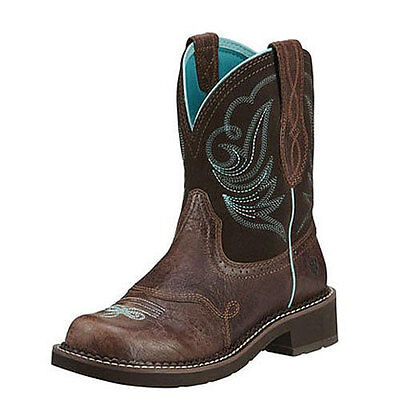10016238 Ariat Women's Heritage Fatbaby Fat Baby Cowboy Boots Dapper Brown NEW