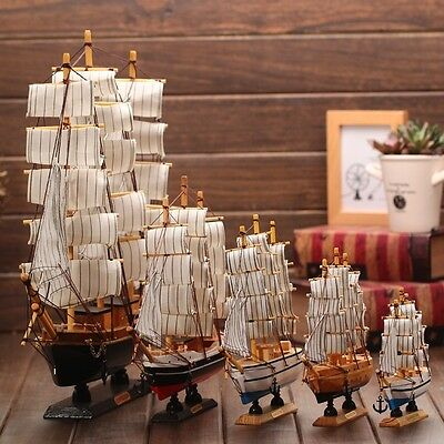 Wood Sailboat Model Creative Birthday Gift Yacht Ornament Crafts Boat Ship Toy