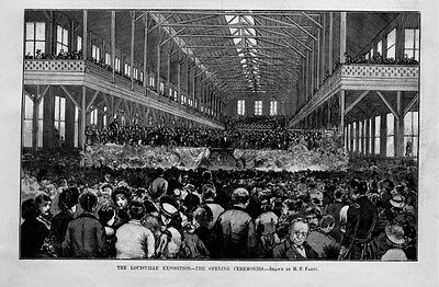 Louisville Exposition The Opening Ceremonies Demonstration Of Southern Progress