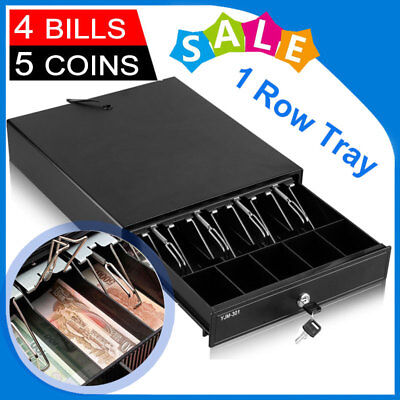 Manual/Electronic Heavy Duty Cash Drawer Register POS 4 Bills & 5 Coins+Tray AU