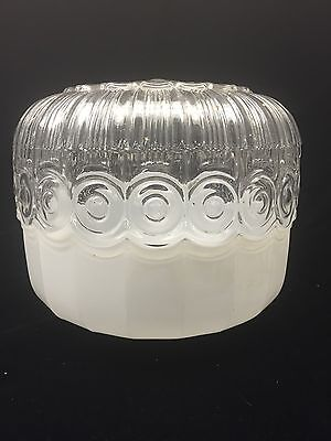 Antique CEILING LIGHT FIXTURE Glass Dome Lamp Decoration ART DECO Chandelier Art