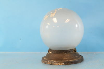 Vintage Glass Globe Round Bubble Metal Flush Mount Ceiling Lighting Bulb Fixture