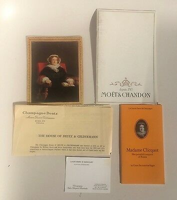 Lot Champagne Ephemera Madame Veuve Clicquot Moet & Chandon Wine Vintage Rare