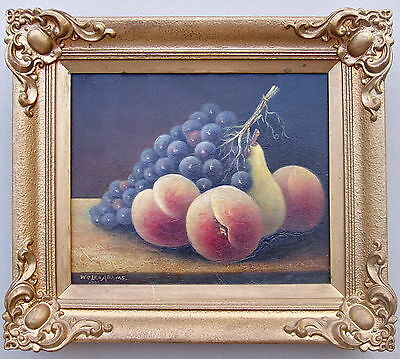 W?Len  Adams 1926 Fruit Oil Painting