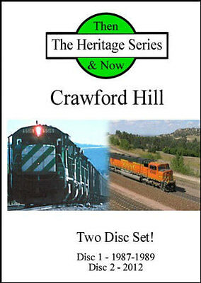 BNSF on Crawford Hill Then and Now 2 Disc DVD Set NEW Nebraska Butte Sub