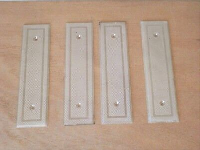 4 FRENCH OLD PLEXI Back plates , PUSH plates , Finger Plates