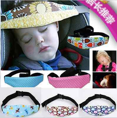 Baby Kids Head Support Holder Sleeping Safety Belt Adjustable Car Seat Nap Aid
