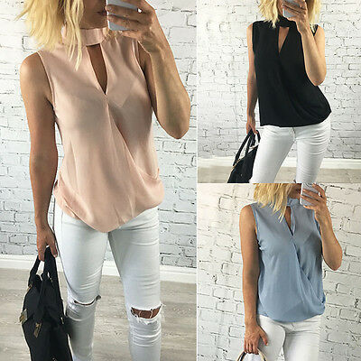 New Fashion Women Ladies Vest Sleeveless Shirt Blouse Summer Casual Loose Tops T