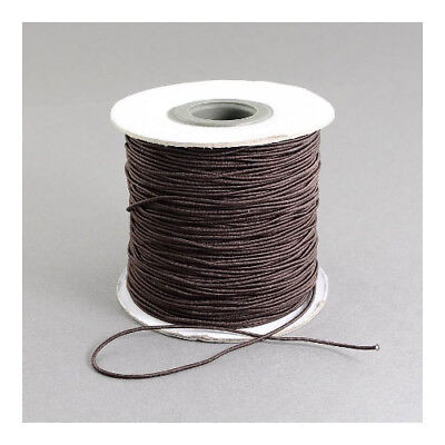 1 x Brown Elastic 10m x 1mm Thong Cord Continuous Length Y04895